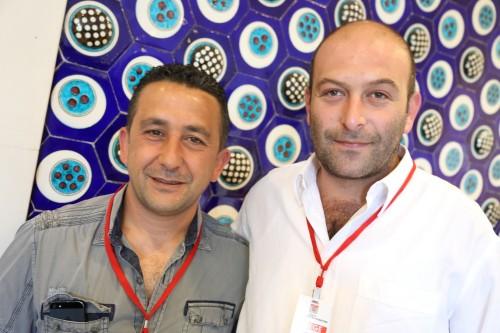 Çeker'in listesinde ye alan Ahmet Ünlü ve Beoff delegesi  Volkan Bayraktar