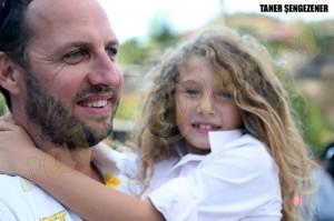 Taner Şengezener ve kızı
