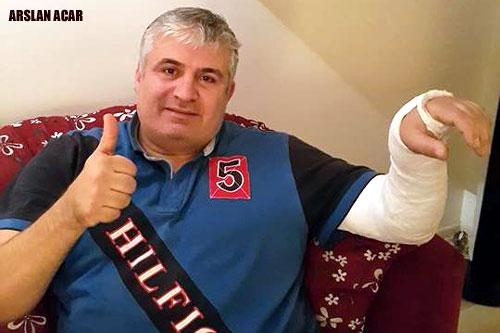 Arslan Acar, 10 gün sonra alçıdan kurtulmak için gün sayıyor..